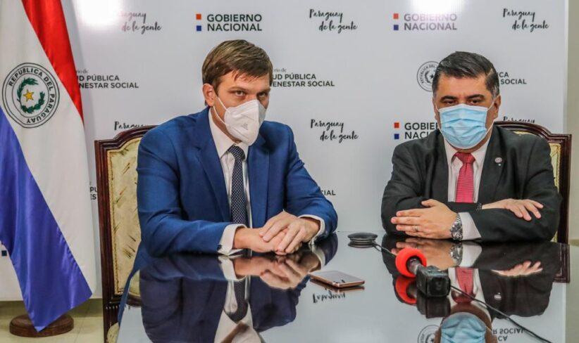 Ministros Brunetti y Borba