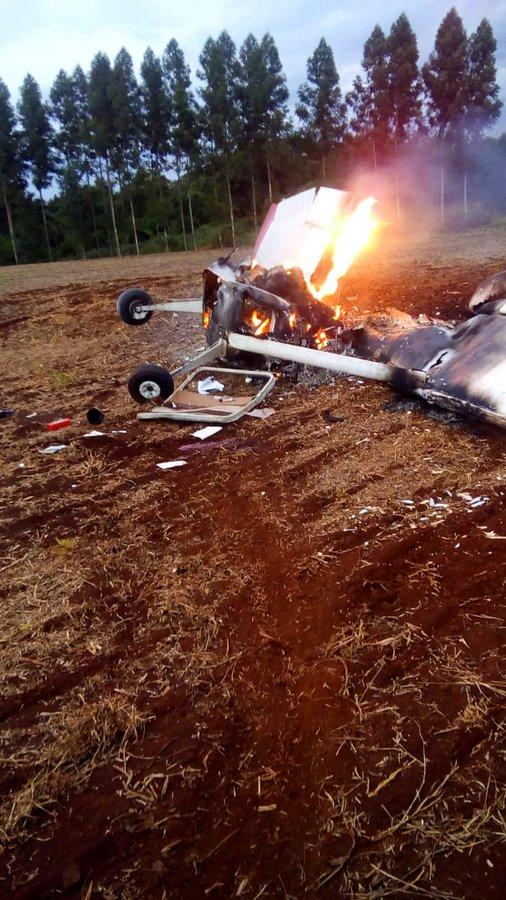 Reportan caída de avioneta en Alto Paraná con derivación fatal