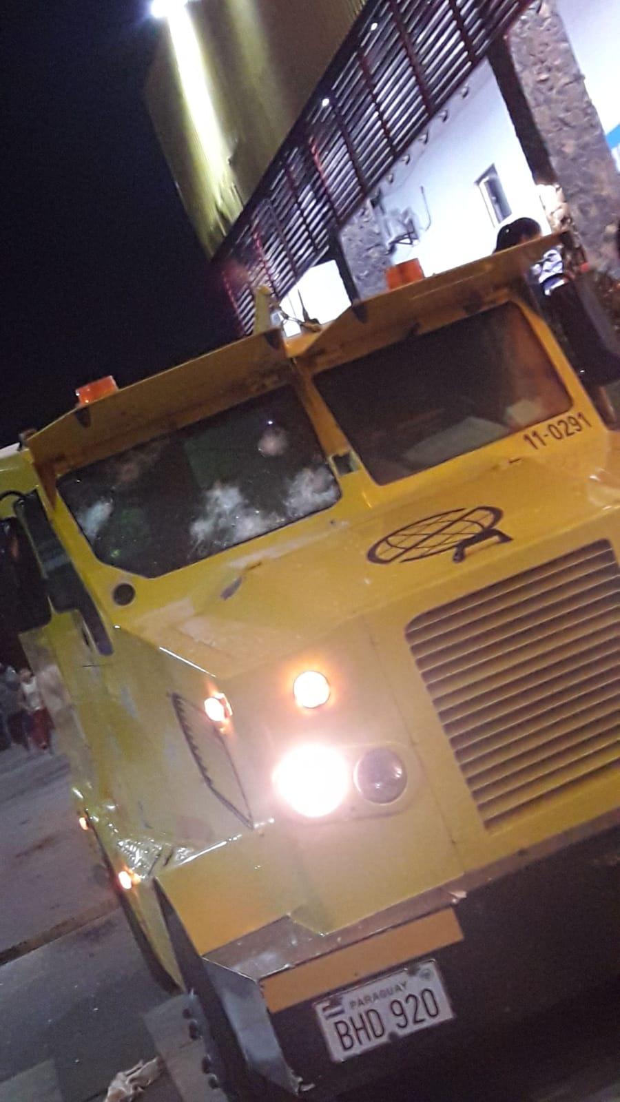 Violento asalto a transportadora de caudales en Capiatá