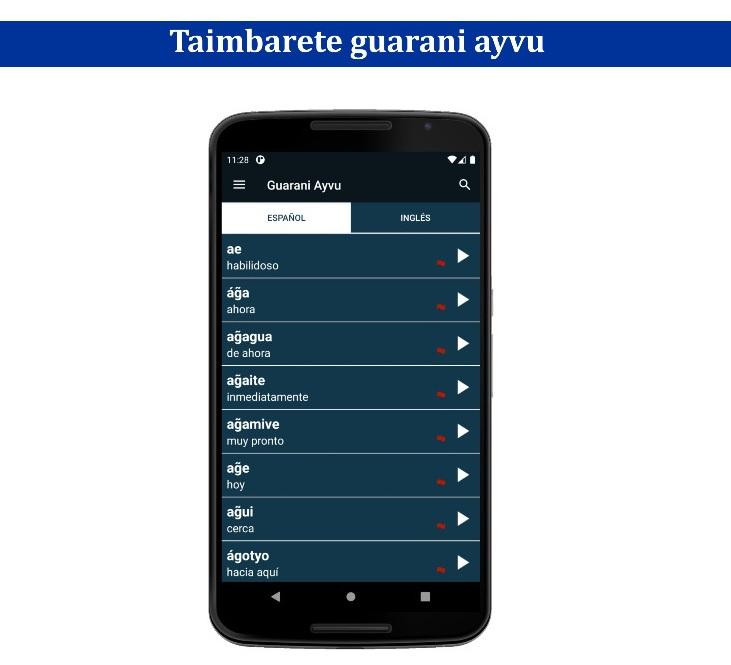 """""""Ayvu"""", la novedosa y necesaria aplicación para aprender guaraní, castellano e inglés"""