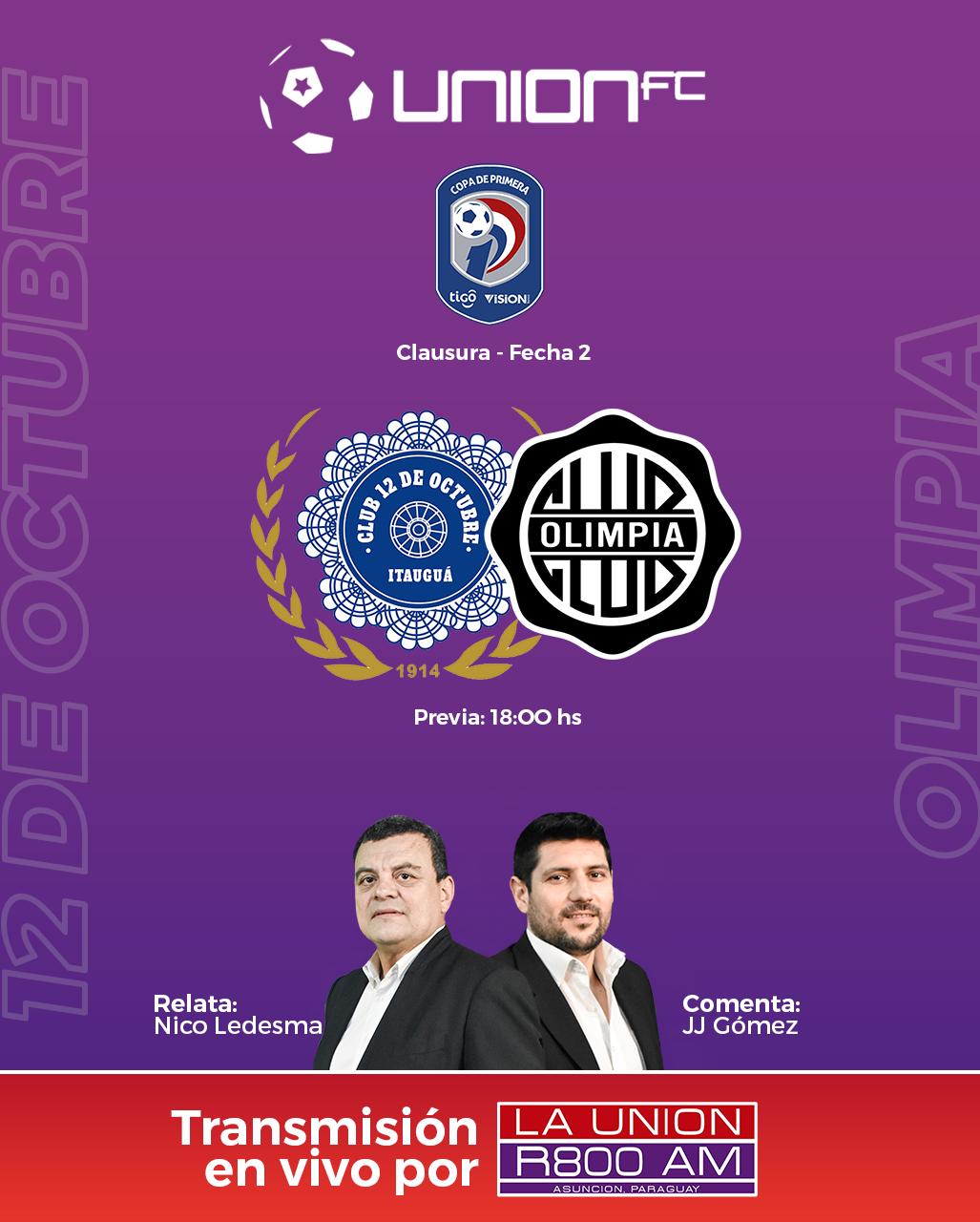 12 de Octubre y Olimpia cierran la Fecha 2 del Torneo Clausura 2021