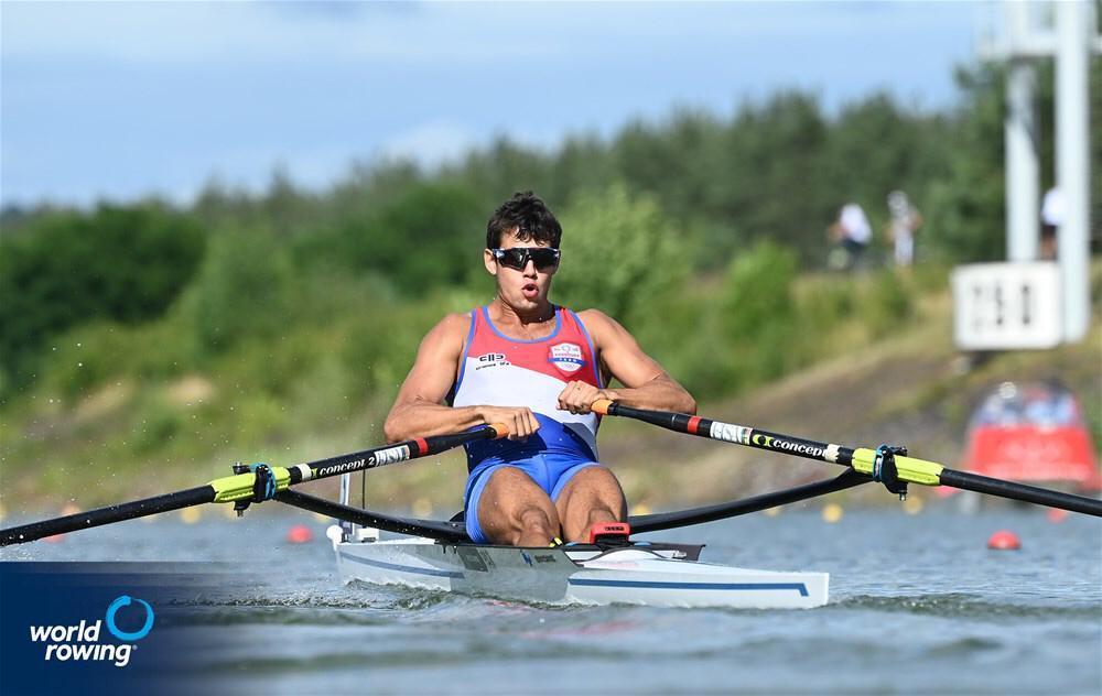 Mundial de remo: El atleta compatriota quiere seguir haciendo historia en la lejana República Checa.