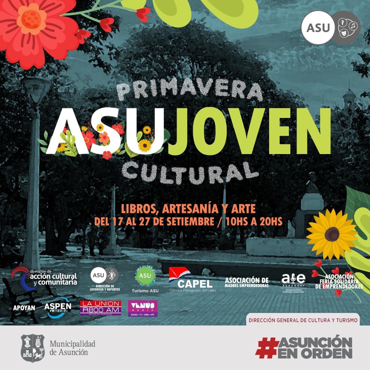 Variadas actividades por el mes de la Juventud y la primavera en Asunción
