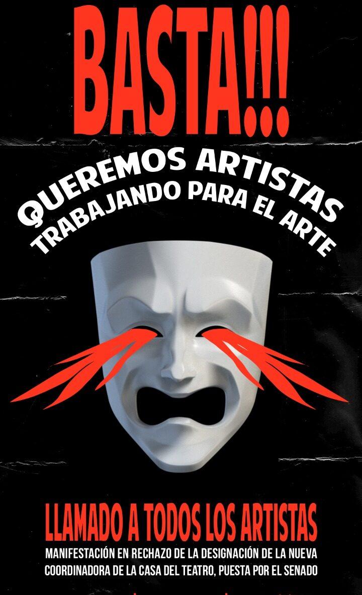 Artistas indignados se manifiestan contra designación de nueva directora de la Casa de Teatro y recorte de presupuesto